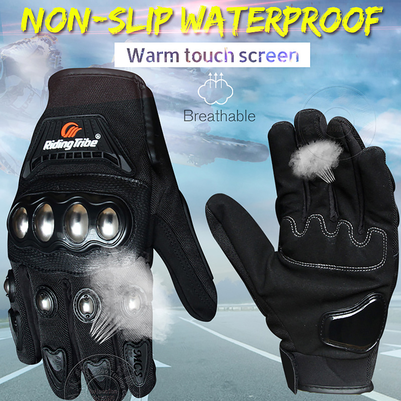 PRO BIKER Motorcycle Touch Screen Gloves Full Finger for Motorcross Dirt Racing Offroad ATV Riding Scooter Protect Gloves MCS29B in Gloves from Automobiles Motorcycles