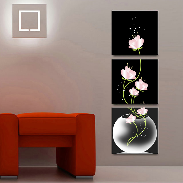 3 piece canvas painting vertical wall art bottle flower decor modern paintings prints for living room bedroom wall art no frame in painting calligraphy