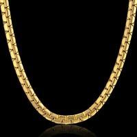 Dropshipping Hip Hop Kette 6mm Gold Farbe Edelstahl Halskette Männlichen Großhandel Flache Box Link Damen Herren Kette 20