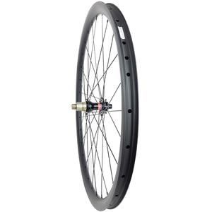 Image 5 - 29er MTB XC hookless racing carbon wheelset 30mm x 30mm UD matt Novatec D791SB D792SB tubeless woods gravel bicycle wheels
