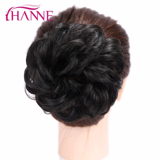 Hanne Synthetic Fiber Curly Chignon Elastic Band Scrunchie Fake Hair
