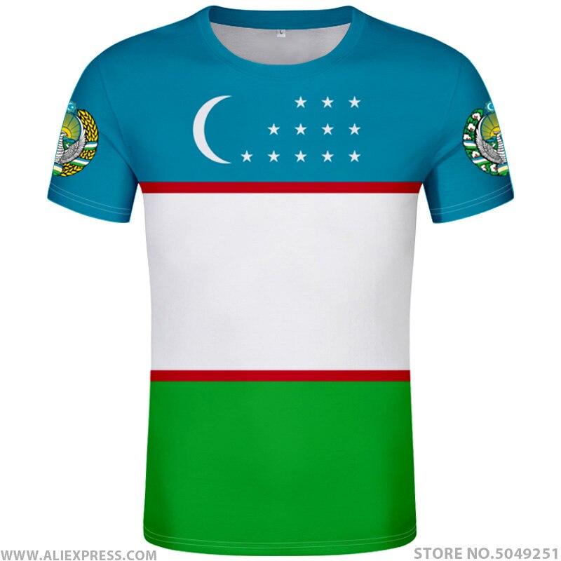 UZBEKISTAN T Shirt Diy Free Custom Made Name Number Uzb T-Shirt Nation Flag Uz Ozbekiston Uzbek Country Text Print Photo Clothes