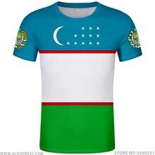 أوزبكستان تي شيرت لتقوم بها بنفسك الحرة مخصص اسم رقم uzb تي شيرت علم الدولة عداد ozbekiston الأوزبكية البلد نص طباعة صور الملابس