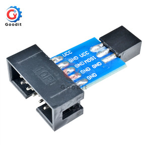 2шт 10Pin в 6PiN конвертировать в стандартный 10 Pin в 6 Pin адаптер платы для ATMEL STK500 AVRISP USBASP ISP интерфейс конвертер AVR