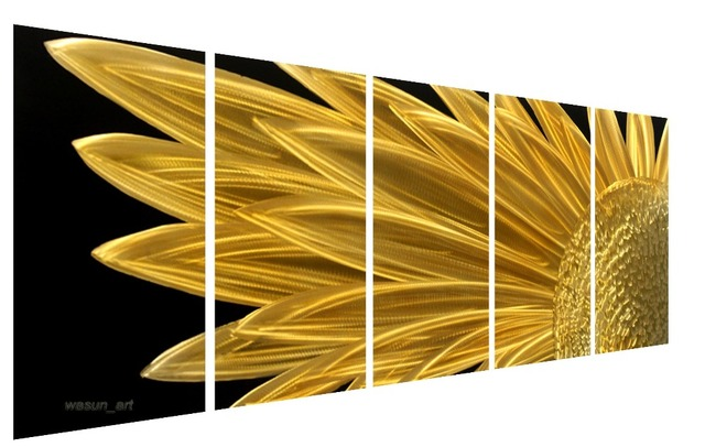 Abstract Metal Wall Art Sculpture Multi Panel Modern Home Decoration ...