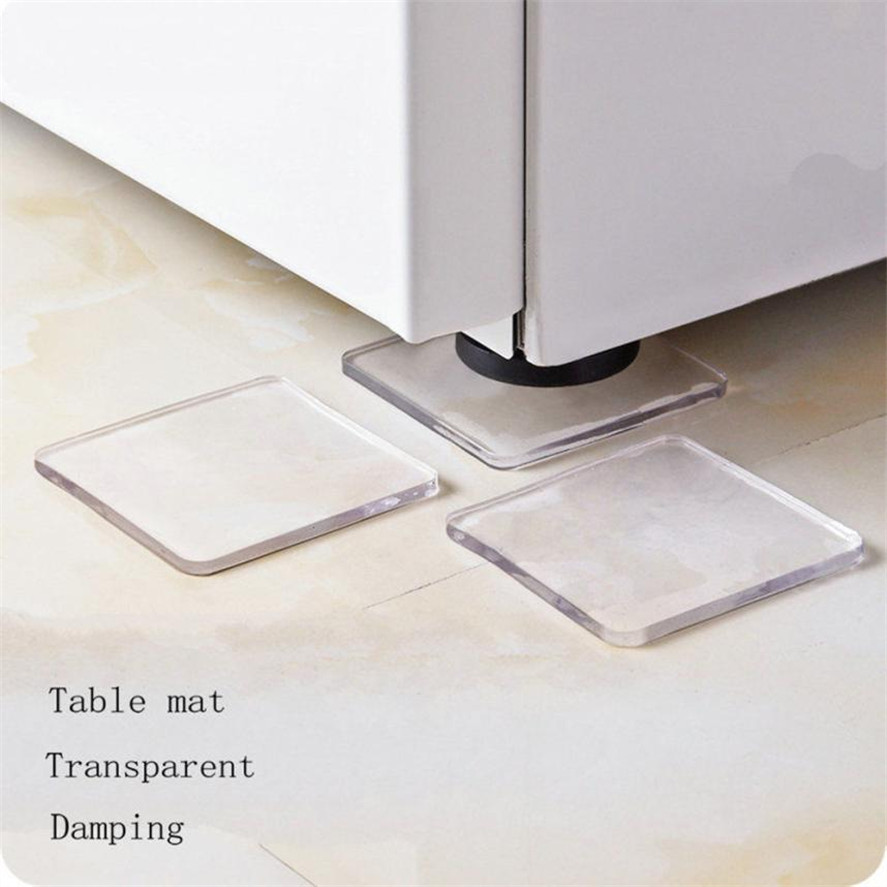 Transparent Furniture Pads 4Pcs Washing Machine Refrigerator Table Cabinet Chair Cushion Shock Proof Pads Furniture Accessories