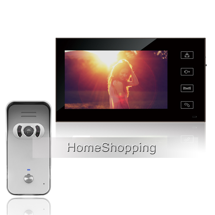 FREE SHIPPING New Wired 7 inch TFT LCD Touch Sensor Button Monitor Video DoorPhone Intercom System With Outdoor Camera IN STOCK цена