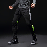 Gym sport Jogger pant Soccer Training Pants Men Football Trousers Jogging Fitness Workout Running Pants with pocket