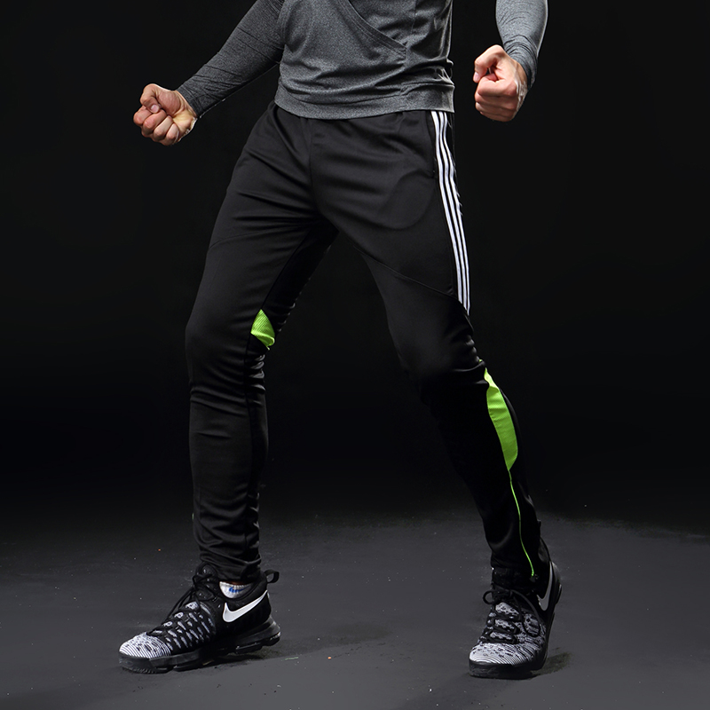 Gym sport Jogger pant Soccer Training Pants Men <font><b>Football</b></font> Trousers Jogging Fitness Workout Running Pants with pocket