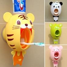 Практичная сильная присоска Забавный мультяшный стиль ванная комната Бытовая зубная щетка держатель детская автоматическая Зубная паста диспенсер