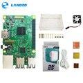 Raspberry Pi Modello B Starter Kit 3-pi 3 Bordo/pi 3 Caso/alimentatore Standard Americano /dissipatore Di Calore
