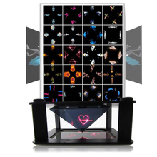 Practical 3D Holographic Projector Pyramid 3D Cartoon Display Stand Showcase Box 3D holographic image show For 3.5-6inch Phones
