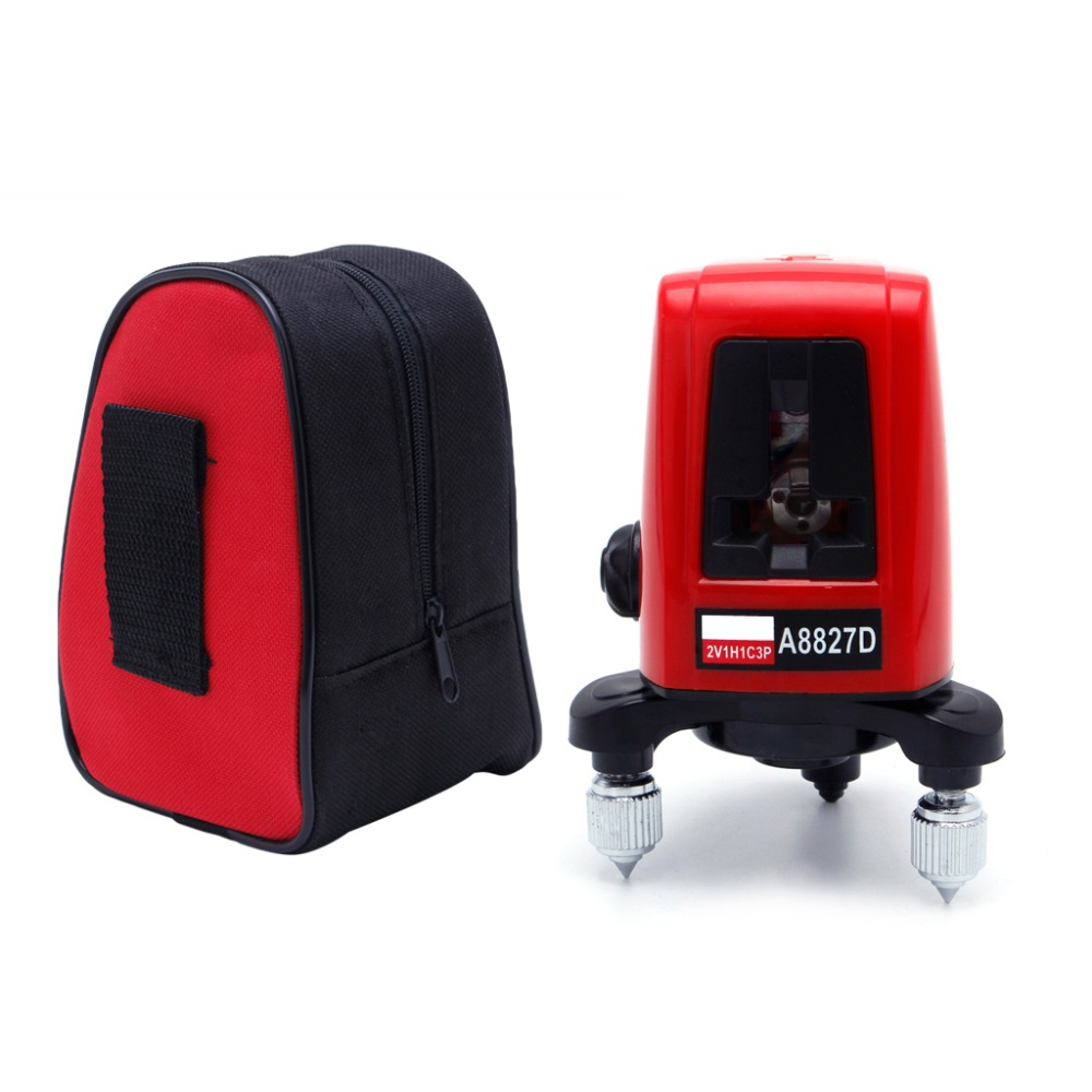 A8827D 3 Red Line 3 Dots Laser Level Self-leveling Horizontal Vertical Measuring Tools Optical Instruments Laser Levels linvel lv 8827 3 gold