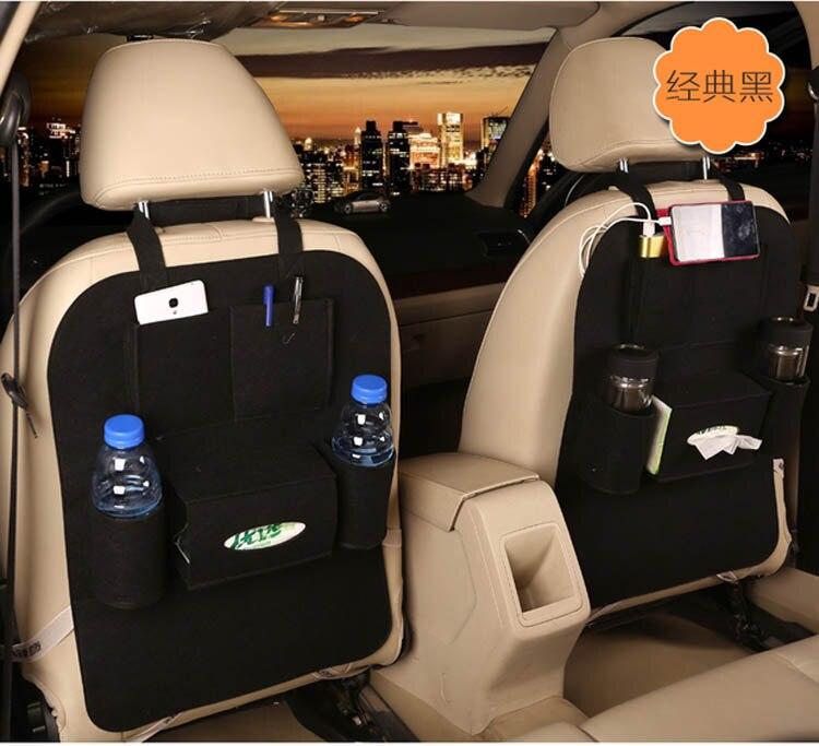 1 X Universal Car Seat Back Storage Bag Organizer Travel Box Pocket Multi-pocket PU Leather Protector Kids Anti- kick
