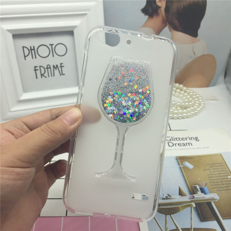 Glitter Quicksand <font><b>Phone</b></font> Cases for ZTE Blade S6 <font><b>Q5</b></font> Case Bling Cute Srtars Cup With Soft Silicon Back Cover 3D Capa Fundas