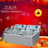1Pc Commerciële Elektrische Friteuse Machine High Power Friteuse Snelle Verwarming Rvs Frituren Machine Hot Koop
