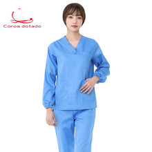 Hand-washing clothes womens pure cotton soft and comfortable brush hand operating room work isolation clothing
