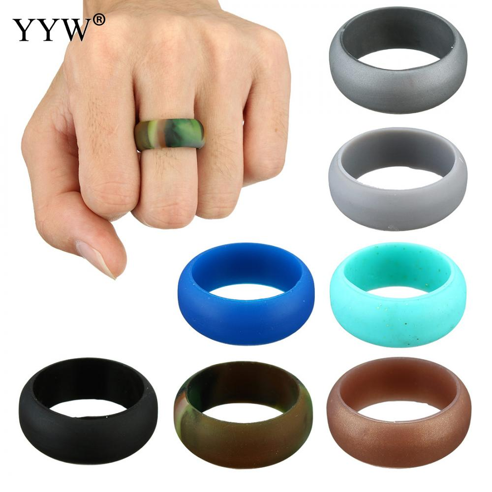 Multicolor Size 712 Hypoallergenic Crossfit Flexible Silicone Rubber Band  Ring Wedding Engagement Vintage Rings