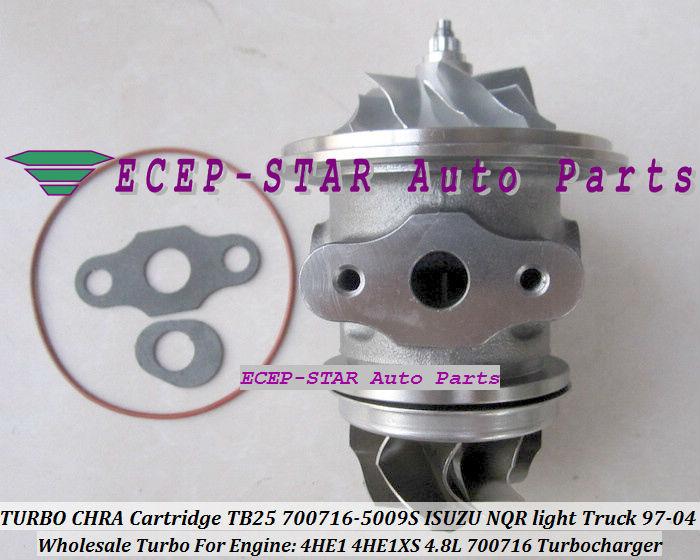 Free Ship Turbo CHRA Cartridge GT25 700716 700716-0001 700716-0004 700716-0005 8971894520 For ISUZU NPR NQR NKR 4HE1 4HE1XS 4.8L