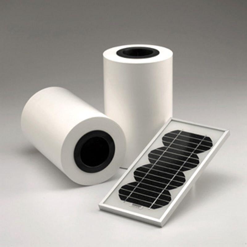 550MM * 20M Solar Cells Backing Sheet For DIY Solar Panel Lamination 550mm 20m diy solar panel eva film sheet for pv cells encapsulation