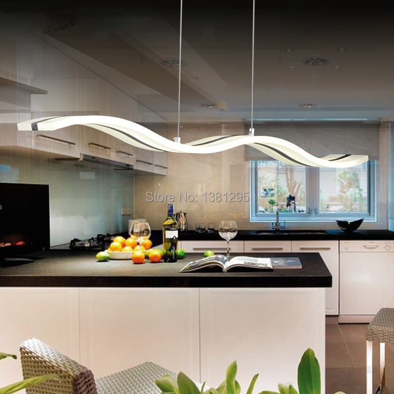 comprar led de luces de techo de cocina de diseo moderno de acrlico suspensin lmpara colgante de techo mesa de comedor casa de