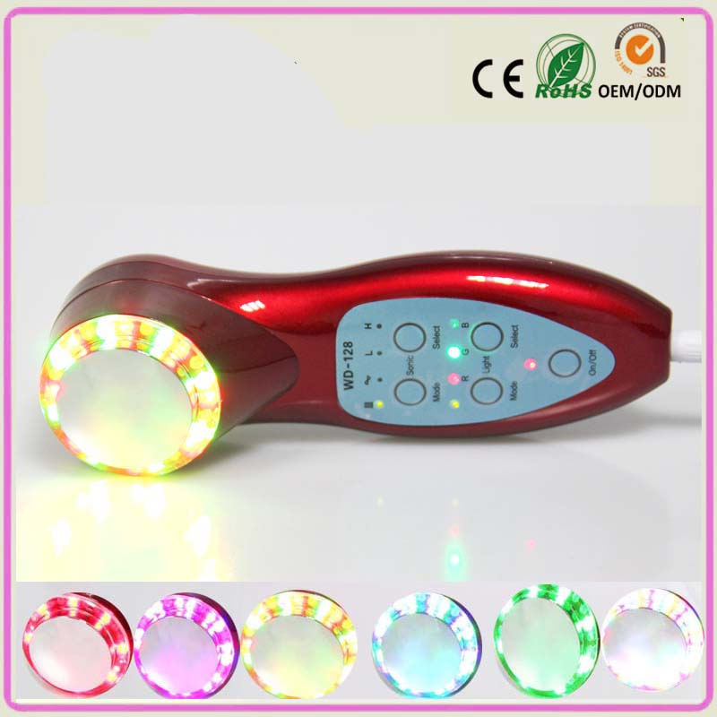 PDT 7 Colors Skin Rejuvenation Therapy Remove Spots Acne Facial Skin Tightening Anti-aging Ultrasonic Beauty Massager anti acne pigment removal photon led light therapy facial beauty salon skin care treatment massager machine