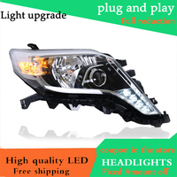 Car Styling HeadLamp for Toyota Prado 2014 2016 Headlights LED Headlight ANGEL EYES DRL Bi Xenon Lens HID Automobile Accessories