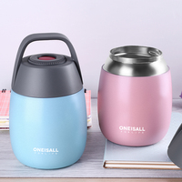 Baby Feeding Dishes Thermos Bowl With Lid For Soul Rice Baby Eating Portable Handle With Spoon