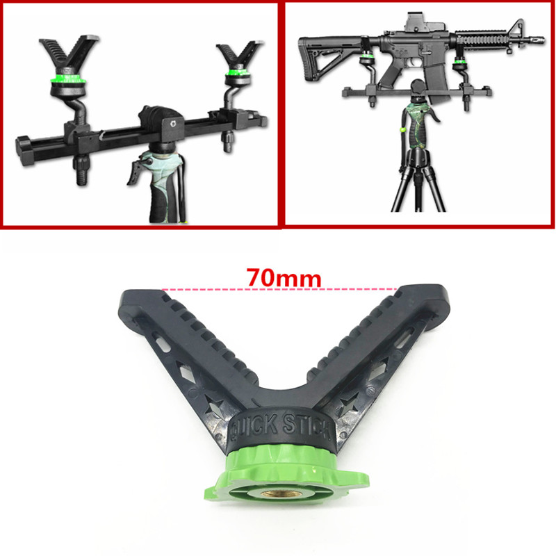 Universal Camera Tripod Shooting Stick Rack V-Yoke Shooting Gun Rest / Rack Ball Head Adapter