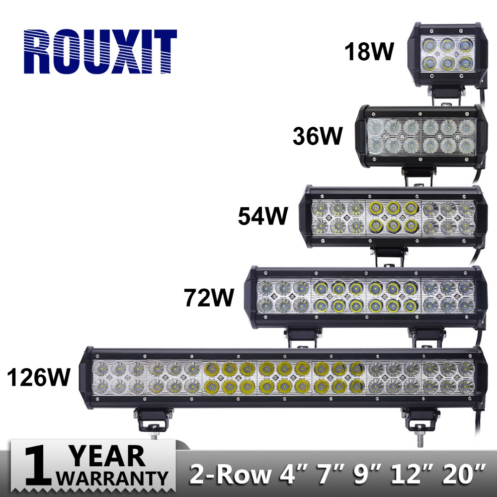 18w 36w 54w 72w 126w LED Bar for Offroad Car 4WD Truck Tractor Boat Trailer 4x4 SUV ATV Spot Flood LED Light Bar LED Work Light truck led ramp 36w led light bar with ip67 waterproof rate