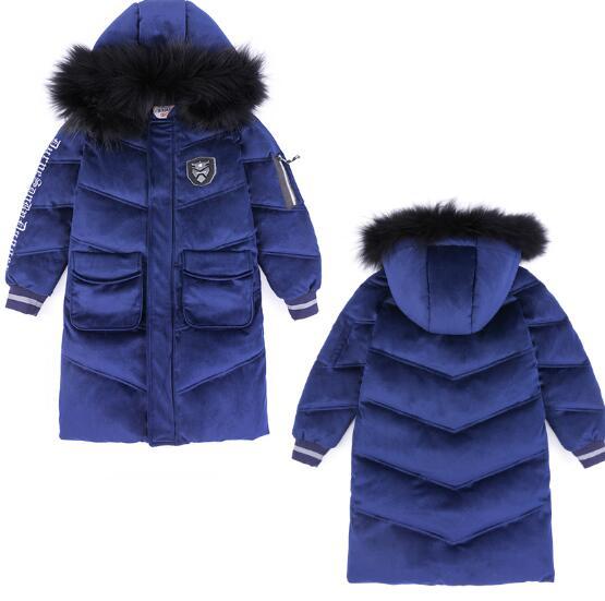Children's Down Jacket Baby Clothing Baby Boys Jacket 2018 Winter Jacket Warm Hooded Long Sleeve Jacket for A Boy недорго, оригинальная цена