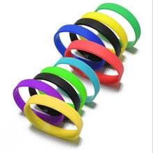 Модный силиконовый резиновый эластичный браслет Спортивный Повседневный
