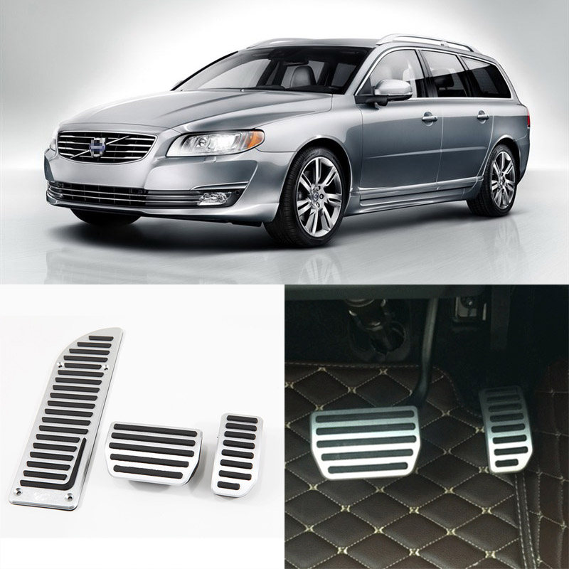 Brand New 3pcs Aluminium Non Slip Foot Rest Fuel Gas Brake Pedal Cover For Volvo V70 AT 2012-2014 brand new 3pcs aluminium non slip foot rest fuel gas brake pedal cover for nissan teana at 2008 2016