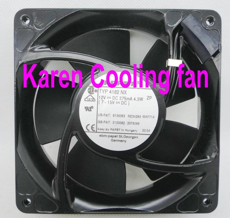 Papst 12cm 12038 12v 375ma 4.5w TYP4182NX cooling fan 4182 free shipping papst 12038 12v 4 5w 4312 n 2h server fan cooling fan 12cm 120x120x38mm