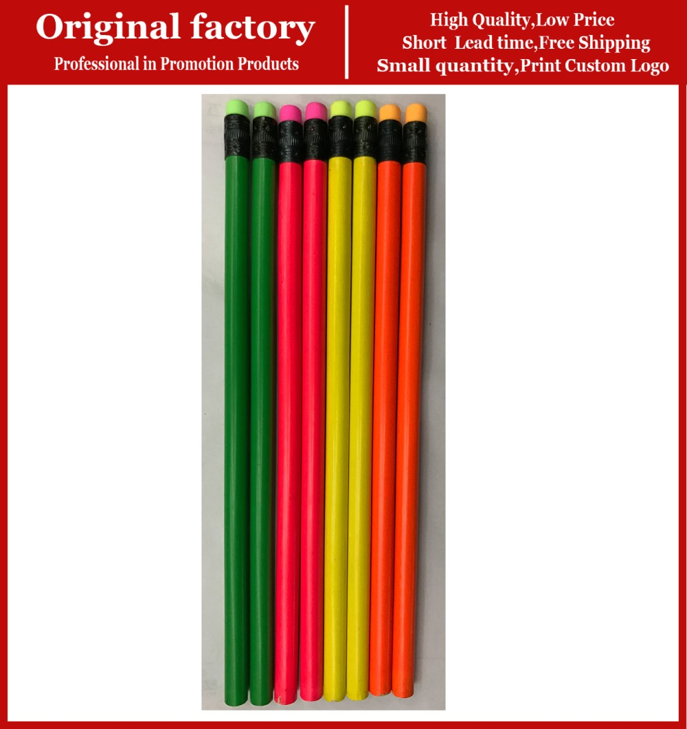 School Whole Pencils With Eraser Toppers Black Wood Custom Logo Photo Pencil