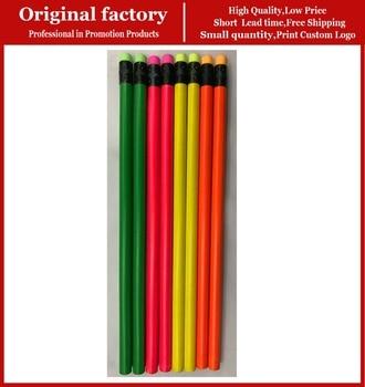 School cheap wholesale pencils with eraser toppers black wood custom pencils logo photo pencil