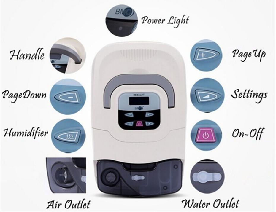 Doctoddd GI CPAP Portable CPAP Respirator for Anti Snoring Sleep Apnea OSAHS OSAS W Nasal Mask Headgear Tube Bag User Manual (18)