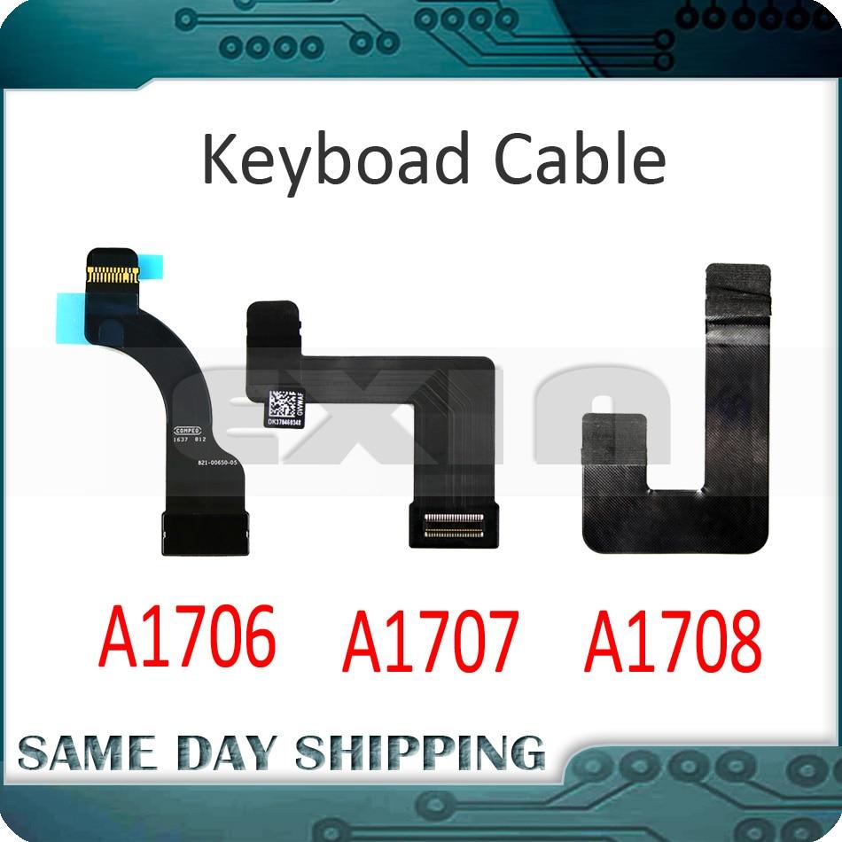 "New MacBook Pro 13/"" A1708 Keyboard Logic Board Flex Cable 821-01046-01 2016 2017"