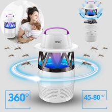 High Quality Unique Practical Mosquito Killer Light 5W USB Smart Optically Controlled Insect Killing Lamp LED Drop Shipping(China)