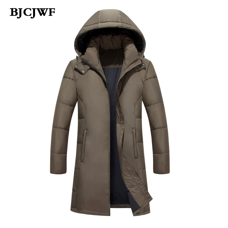 2017 new brand Men Down jackets thick warm Plus size 5XL High quality Long Parkas white duck down jacket winter coat hooded Male