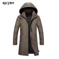 2017 New Brand Men Down Jackets Thick Warm Plus Size 5XL High Quality Long Parkas White