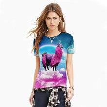 Unicorn 3d Printed Women T-shirt Rainbow Colour Round Collar T Shirt for Couples Fashion Couple Clothes Tshirt Men Top Clothing