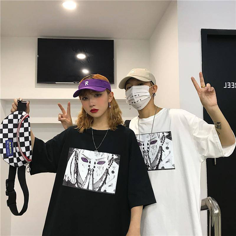 Harajuku Naruto Tshirt Streetwear Men Women Casual Summer Amine T-shirt Casual Cartoon Print Male Tops Funny Japan T Shirt Boys