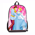 2015 New Princess Cartoon Cinderella School Bags for Children Cute Kawaii Schoolbags for Grils middle school Shoulder bag