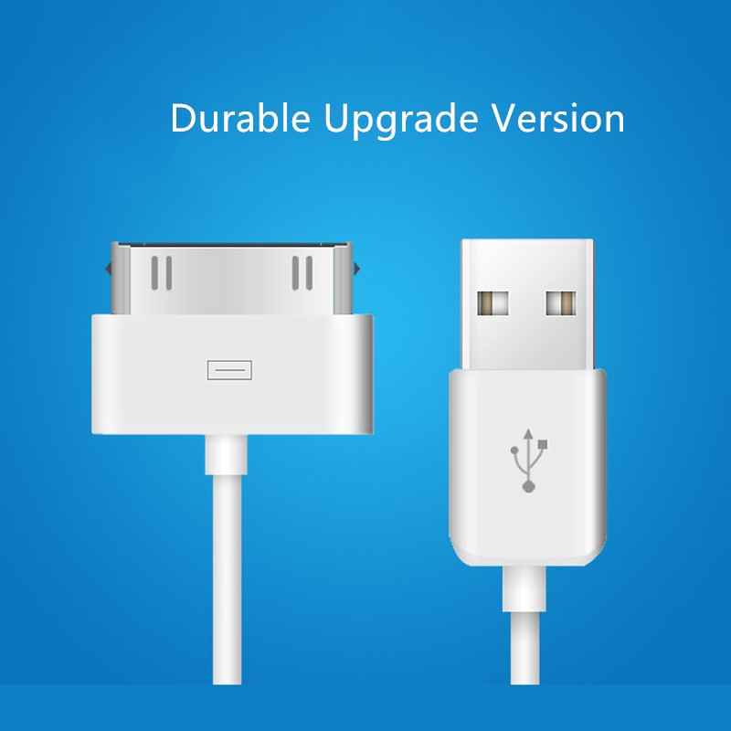USB kabel Rask lading for iPhone 4 s 4s 3GS 3G iPad 1 2 3 iPod Nano touch 30 pin original Laderadapter Datasynkroniseringskabel