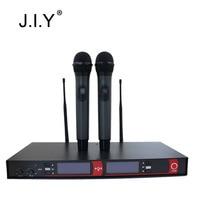 2016 Newest High Quality 2 X Wireless Radio Microphone Receiver J 918U For Disco Home Use