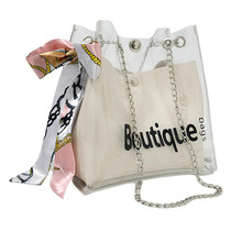 2018 Women Brand Mini Small Shoulder Bag Clear Transparent Drawstring Girls Cute Composite Female Handbags