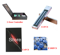 Complete 2 Door TCP IP Networking Two Way RFID Proximity Card Access Control System