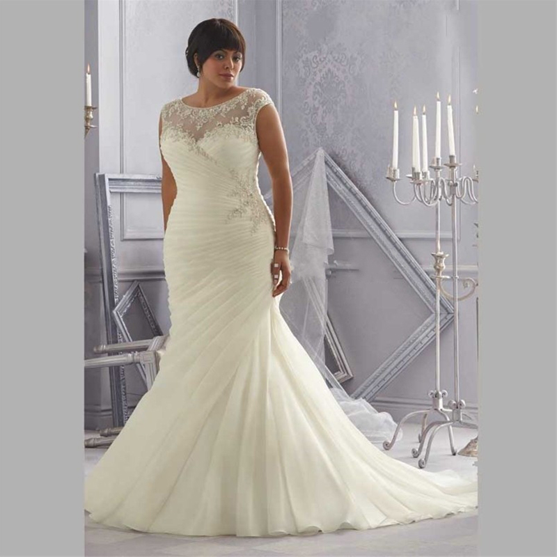 Mermaid wedding gown distinctive design plus size wedding for Crystal design wedding dresses price