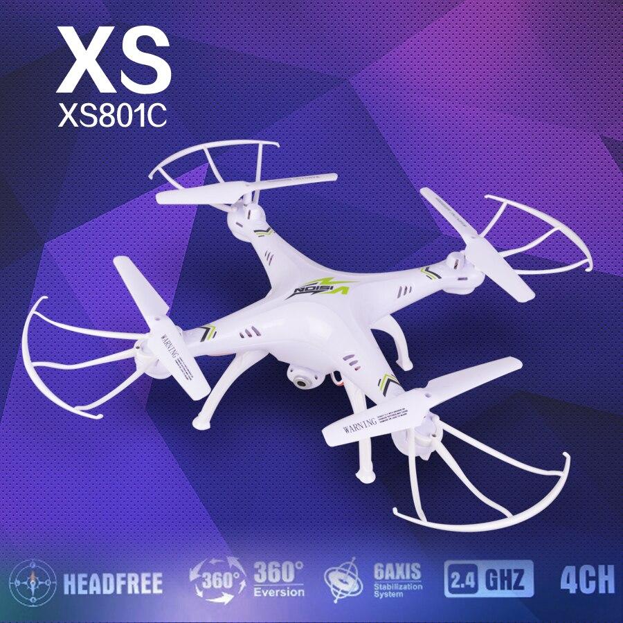Headless Modo Ewellsold XS801C 2.4G 6 Ejes GIROCOMPÁS RC quadcopter drone con cá